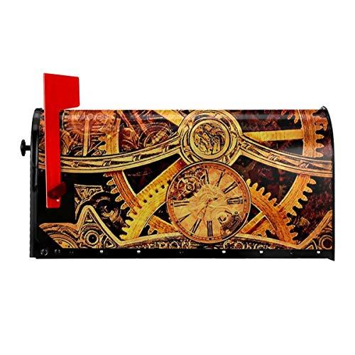 PecoStar Briefkasten-Abdeckung, Steampunk-Getriebe, magnetische Briefkasten-Abdeckung, Sonnenschutz, dekorative Standardgröße, Briefkasten-Abdeckung für den Außenbereich, weiß