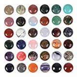 Wholesale Lot 24pcs Multi-Color 18mm Gemstone Round Cab Cabochon for Jewelry Making