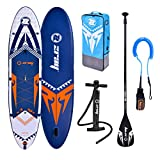 ZRAY SUP X-Rider 12' - Stand Up Paddle Gonflable - Charge Max 162 Kg - 330 x 76 x 15cm - Dropstitch Simple Couche - Bleu