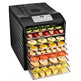 Magic Mill Food Dehydrator Machine, Easy Setup, Digital Adjustable Timer and Temperature Control,...