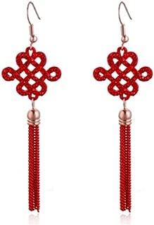 Love Lucky Lantern Chinese Asian Pretty Dangle Earrings