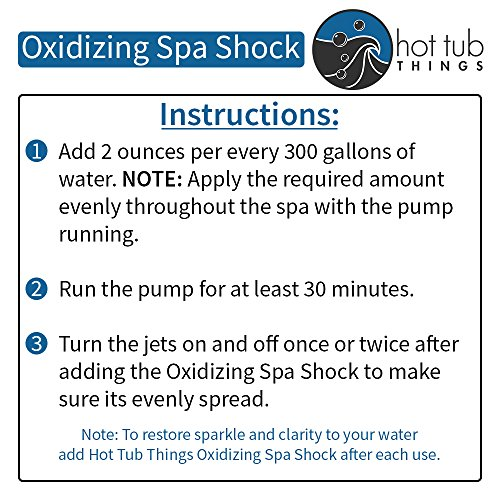Hot Tub Things Oxidizing Spa Shock 2.2 Pounds - Prevents Organic Buildup and Cloudy Water