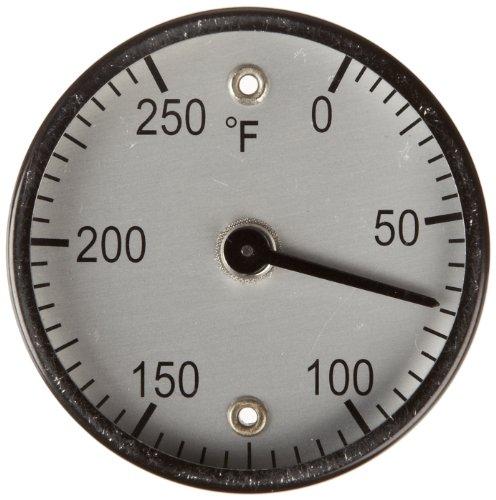 PIC Gauge B2MS-I 2' Quadrante Dimensione 0/250°F, Montaggio superficiale, Connessione magnetica, Cassa in Acciaio Nero Termometro Montaggio superficiale