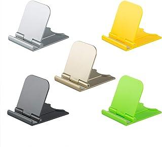 AIFUDA 5 Piezas Plegable Soportes para teléfonos celulares, Portátil Soporte para teléfono Universal Cuna de Escritorio para teléfono Celular para Tabletas, Lector, Mini iPad, Smartphone