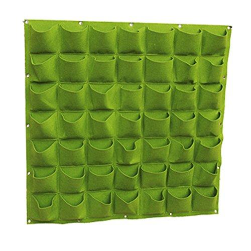 TEERFU Pot de fleurs vertical multi-poches à fixation murale pour intérieur ou extérieur