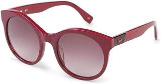نظارة شمسية بتصميم دائري للنساء من لاكوست، لون بني، موديل L851S 526