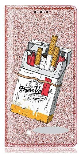 Mixroom - Custodia Cover Case in TPU Morbido con Libro Brillantini Glitter Fucsia per iPhone 6 Plus Fantasia Pacchetto di Sigarette codice BR299