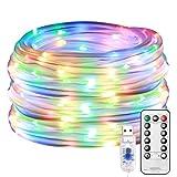 LE Cadena de Luces LED, 10m 100 LED 8 modos, USB Exteriores, Guirnalda Luces RGB Multi Colores, Temporizador, Resistente al Agua, para Jardín, Casa, Navidad etc