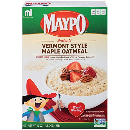 MAYPO Instant Maple Oatmeal Cereal Vermont Style 19 OZ (Pack of 2)