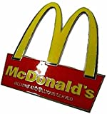 McDonalds Golden Arch Logo Metal/Enamel Belt Buckle