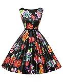 Photo de Femme Elégante Robe de Soirée pour Mariage Style d'Audrey Hepburn Vintage Rockabilly S CL6086-14 par
