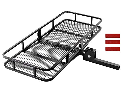 CAR DRESS Hitch Cargo Carrier 24'(L) x 60'(W) x 6'(H) Luggage Rack 500 lbs Capacity Fits 2' Receiver