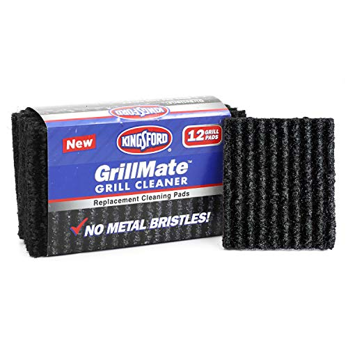 Kingsford 107746 GrillMate Grill Cleaner Replacement Pads Twelve Count Sturdy, Non-Metal Bristles