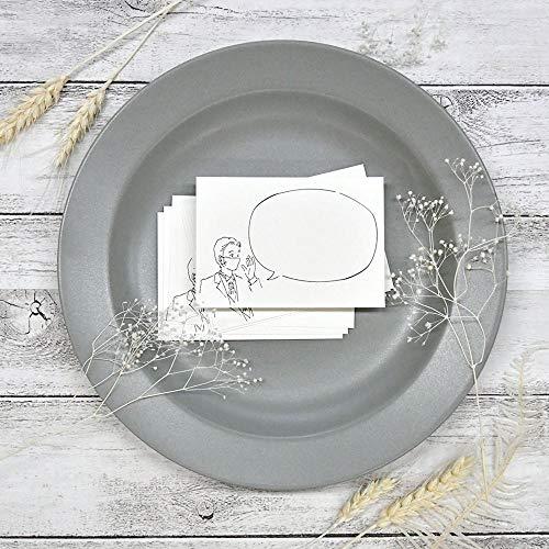 多目的メッセージカード Groom マスク 20枚入 結婚式 招待状同封 テーブルメッセージ コロナ対策案内カード