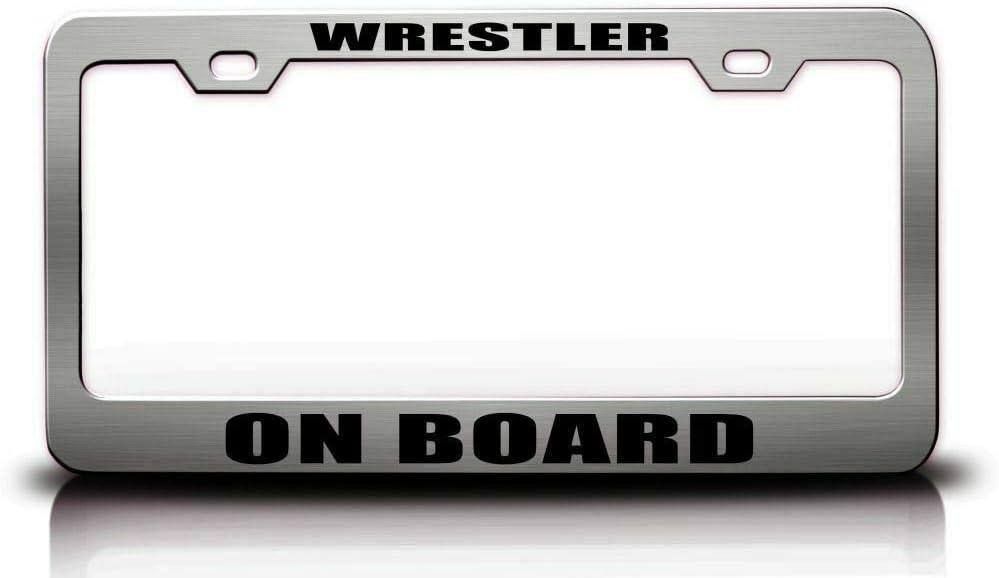 Wrestler ON Board SPOR Max 68% OFF Frame Max 42% OFF License Plate S.Steel