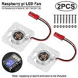 2pcs Raspberry Pi 4 Fan, Raspberry Pi Cooling Fan DC Brushless CPU Quiet LED Cooling Fan 30mm 30mm Fan Cooler Radiator 3 to 5.8V for Raspberry Pi 4 Model B, Raspberry Pi 3B+ 3B 2B+