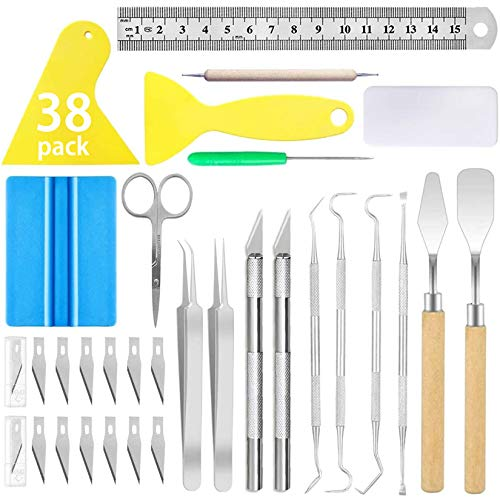 38PACK Craft Weeding Tools Weeding Craft Tools Set Vinyl Weeding Tool Craft Vinyl Tools Kit for Silhouettes/Cameos/Lettering/Cutting/Splicing