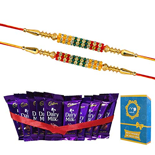 Maalpani Rakhi Rakshabandhan Chocolate Gift Hamper Love Brother Sister Bhai Behen Gift Set Small Multicolor (Set 1)