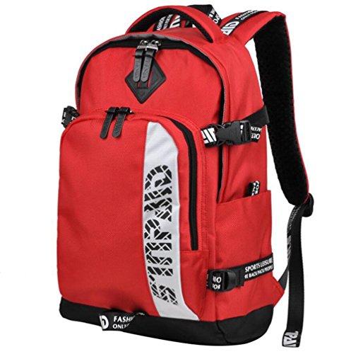 WYXIN45 L sac à dos Sac à dos Cyclisme Randonnée pack Camping/Randonnée Escalade Sport de détente Cyclisme/Vélo Etanche Respirable, Red