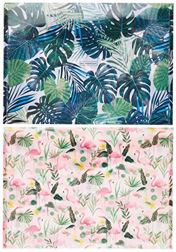 Miquelrius 16082 pack de dos sobres Flamingo y Tropical