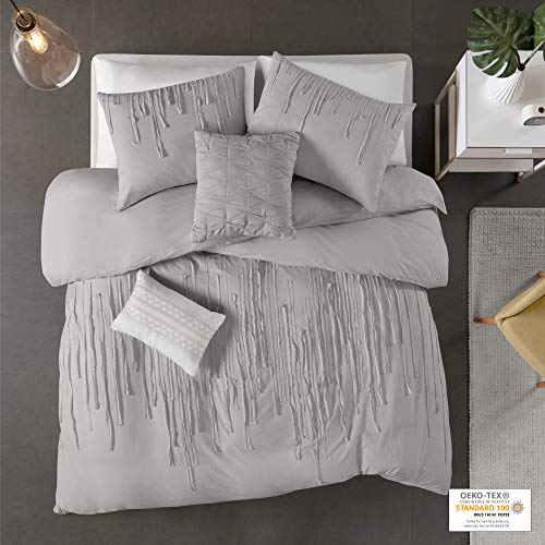 Urban Habitat Paloma 100% Cotton Comforter, Ultra Soft Cover, Stripes Accent, Embroidered Pillows All Season Modern Luxe Bedding Set with Matching Sham, Twin/Twin XL(68