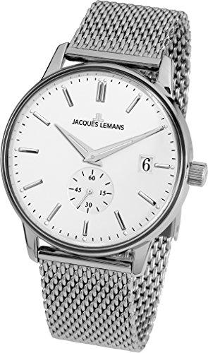 Jacques Lemans Reloj Analógico para Unisex Adultos de Cuarzo con Correa en Acero Inoxidable N-215F