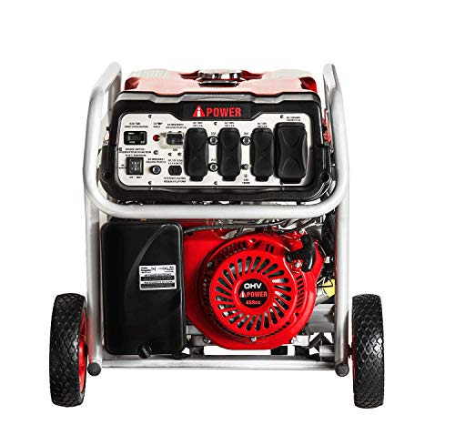 A-iPower SUA12000EC 12000-Watt Gas Powered Generator W/Electric Start (CARB/EPA), Wheel Kit Included