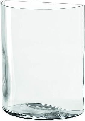 LEONARDO フラワーベース クリアー サイズ:20×10×23.4cm セミサークル フラワーベース 23cm Centro 046943 2個入