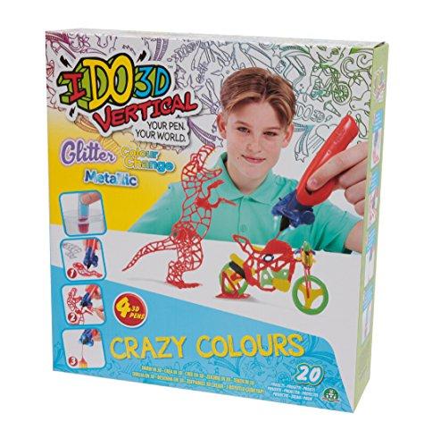 Giochi Preziosi- Giochi Preziosi-IDO3D Vertical Set Color World Boy con 4 Penne, Disegno e Creazione in 3 Dimensioni, D3D19200