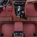 Super1Six Alfombrillas De Coche para Todas Las Estaciones Cuero Personalizado, Apto para Aston Martin Vanquish 2014~2017,Red Wine
