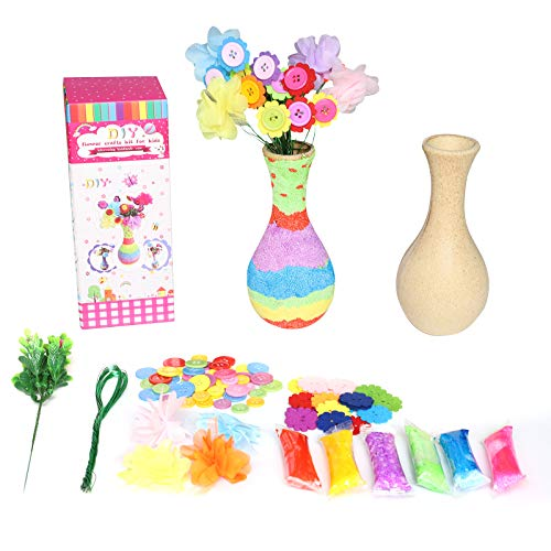 Lamapee crafts for kids, DIY Vase With Flower, Toys for 4 5 6 7 8 9 10 12 Years Old Girls, Perfect for Christmas Birthday Gift