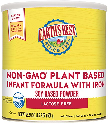 Earth's Best Non-GMO Soy Plant Based Infant Powder Formula with Iron, Omega-3 DHA & 6 ARA, 23.2...