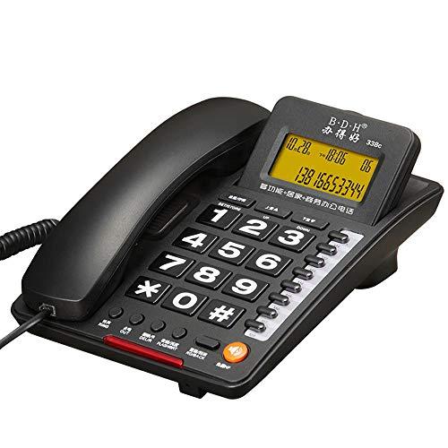 Téléphone Fixe Filaire Fixe à Domicile Fixe avec Affichage électrique à Deux Couleurs en Option