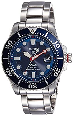 10. Seiko Solar SNE437P1 automatik movement with 200m water resistance