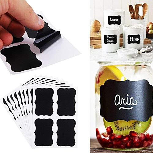 etiquetas adhesivasFellibay Etiquetas reutilizables para pizarra, pegatinas de despensa, la mejor pegatina de tiza para organizar la cocina (180 unidades)