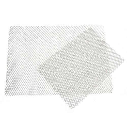 EsportsMJJ A5 A4 formaat Aluminium Mesh Vellen Diamond Mesh Uitbreidbaar Metaal Verhoogde Craft Platen, 2, ZILVER, 1