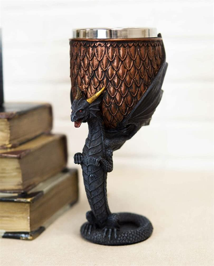 Free shipping / New Veedaf Dragon Scales with Servant Drinkin Popular brand Stem Drake Winged Base