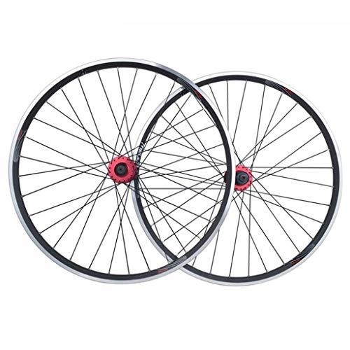 TYXTYX Juego de Ruedas de Bicicleta de montaña MTB 26 Pulgadas V-Brake/Freno de Disco Llanta de Doble Pared de aleación para Casete de 7 8 9 10 velocidades Llanta de llanta de 1,25~2,5'