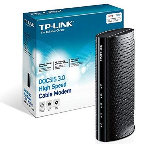 TP-Link DOCSIS 3.0 (16x4) High Speed Cable Modem, Max Download Speeds of 686Mbps, Certified for...