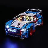 HLEZ Kit De Iluminación LED para Lego Technic Rally Car Complemento De Juego De Luces LED para Lego Set 42077 No Incluye Modelo