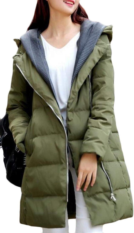 Alion Women Warm Padded Long Overcoat Puffer Down Coats