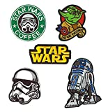 SET PRODUCTS  5 Parches Termoadhesivos de Star Wars - Iron-on Patches para Personalizar su Ropa o Bolsos - CREA tu Propio Estilo! - Varios Modelos Disponibles