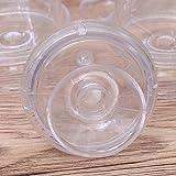 STOBOK 12pcs Mini Tortenständer Kuchenglocke Plastikglocke mit Teller Hochzeit Party Servierplatte (Transparent) - 8