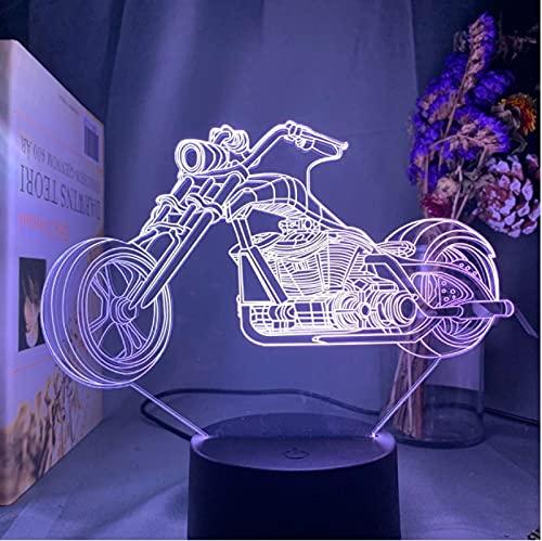 Lámpara 3D Lámpara De Ilusión Óptica De Motocicleta 7 Colores Luz Nocturna Para Decoración Del Hogar Regalo De Cumpleaños Para Lámpara De Mesa Infantil