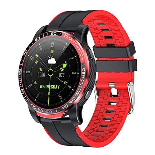 LTLJX Smartwatch Herren, Fitness Armband Voll Touchscreen ip67 Wasserdicht,Schrittzähler Uhr, Pulsmesser,Musiksteuerung, Smartwatch Damen Kinder, SportUhr für iPhone Samsung,Rot