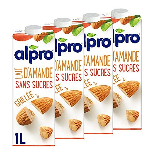 Alpro Boisson végétale lait d'amande grillée sans sucres 4x1L