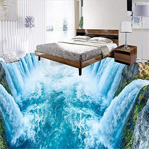 Wuyyii 3D behang aangepaste muurschildering niet-geweven muurstickers Lake Mountain Stream achtergrond slaapkamer behang voor muren 3 D 150x120cm