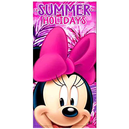 Telo Mare Minnie Summer Holydays 70x140 cm 100% Poliestere Asciugamano asciuga Rapidamente