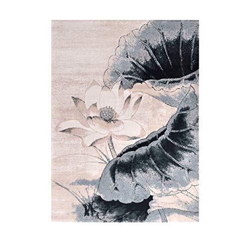 Tapis JXLBB en polypropylène Salon de Style Chinois Table Basse Canapé Couverture Chambre Couverture de Chevet Simple Moderne Coton en polypropylène Moderne Protection de l'environnement Respirant