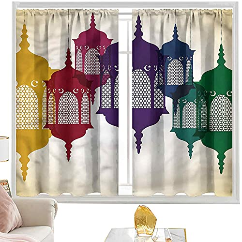 Cortinas & drapeados Linterna, colorido antiguo n W52 x L84 pulgadas cortinas opacas